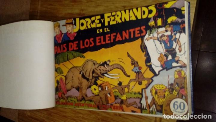 JORGE Y FERNANDO TOMO CON 27 NÚMEROS DE LOS PRIMEROS ORIGINALES (Tebeos y Comics - Hispano Americana - Jorge y Fernando)