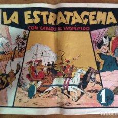 Tebeos: LA ESTRATAGEMA CON CARLOS EL INTRÉPIDO Nº 9, ORIGINAL. Lote 118240919