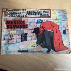 Tebeos: MERLIN EL MAGO MODERNO . MUÑECOS HUMANOS . Lote 118764927