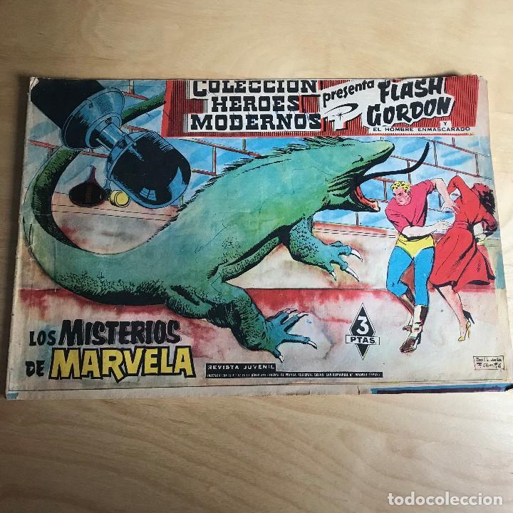 FLASH GORDON Y EL HOMBRE ENMASCARADO . Nº 24 . LOS MISTERIOS DE MARVELA . (Tebeos y Comics - Hispano Americana - Flash Gordon)