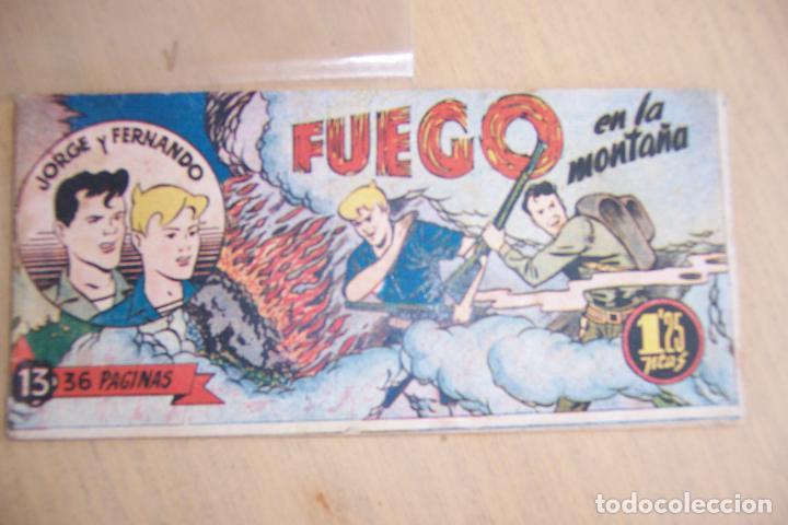 HISPANO AMERICANA,- JORGE Y FERNANDO BOLSILLO Nº 1-13-14-16-19-25-27-45-63.Y PORTADA 27 (Tebeos y Comics - Hispano Americana - Jorge y Fernando)