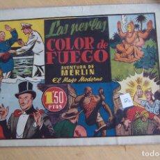Tebeos: HISPANO AMERICANA,- MERLIN Nº 18 LA PERLAS COLOR DE FUEGO . Lote 119286643