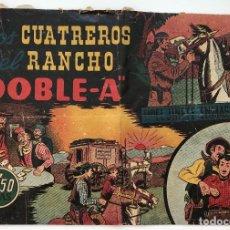 Tebeos: COMIC LOS CUATREROS DEL RANCHO - DOBLE-A CON EL JINETE ENMASCARADO - HISPANO AMERICANA DE EDICIONES. Lote 120111807