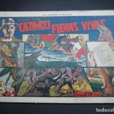 Tebeos: CAZANDO FIERAS VIVAS (1941, HISPANO AMERICANA). COMPLETA : 9 NÚMEROS.. Lote 120766071