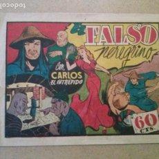 Tebeos: EL FALSO PEREGRINO ,CARLOS EL INTREPIDO Nº 35-HISPANO AMERICANA -T. Lote 120808455