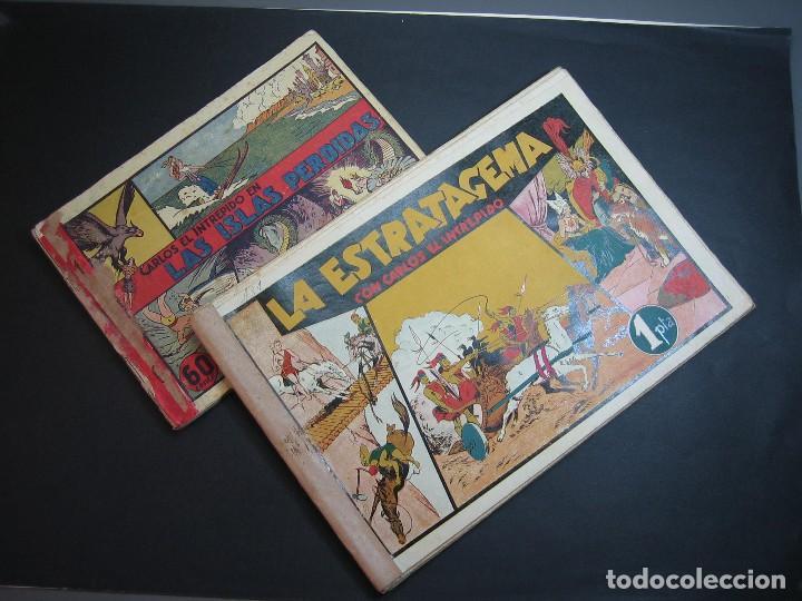 CARLOS EL INTREPIDO (1942, HISPANO AMERICANA). LOTE Nº : 1 AL 18 (Tebeos y Comics - Hispano Americana - Carlos el Intrépido)