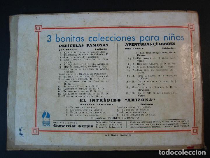 Tebeos: CARLOS EL INTREPIDO (1942, HISPANO AMERICANA). LOTE Nº : 1 AL 18 - Foto 10 - 120827763