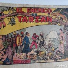Tebeos: TARZAN EL HOMBRE MONO , EL ENEMIGO DE TARZAN , HISPANO AMERICANA , ORIGINAL. Lote 121388963