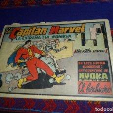 Tebeos: EL CAPITÁN MARVEL Nº 6 CON NYOKA. LA EXTRAÑA TÍA MINERVA. HISPANO AMERICANA. AÑOS 40 RARO. ORIGINAL.. Lote 121605187