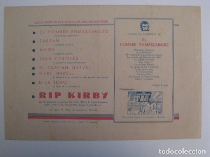 Comics: HISPANO AMERICANA - EL HOMBRE ENMASCARADO. LOTE DE 82 EJEMPLARES (GRAN FORMATO). AÑO 1941 - Foto 13 - 121658267