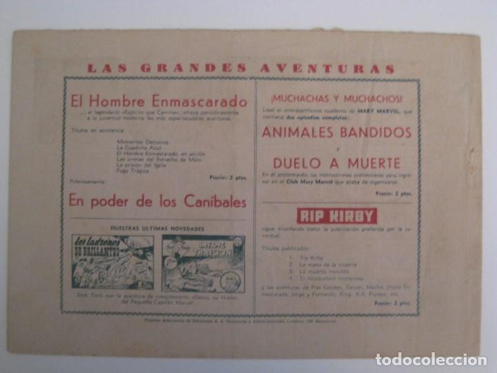 Comics: HISPANO AMERICANA - EL HOMBRE ENMASCARADO. LOTE DE 82 EJEMPLARES (GRAN FORMATO). AÑO 1941 - Foto 23 - 121658267