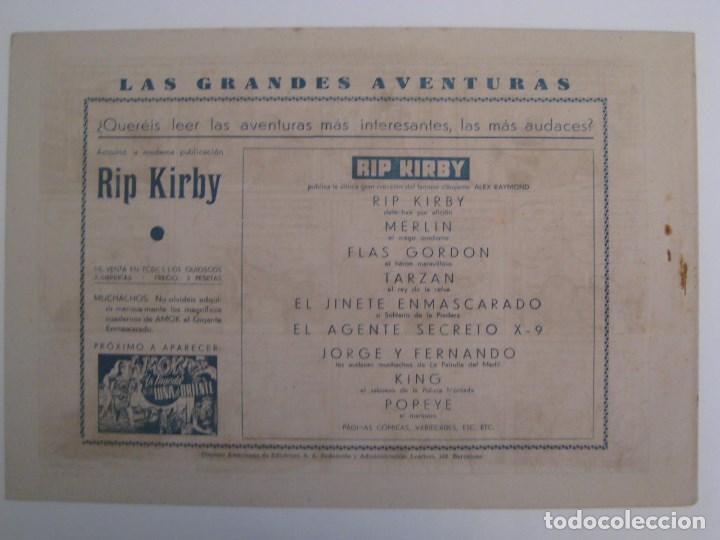 Comics: HISPANO AMERICANA - EL HOMBRE ENMASCARADO. LOTE DE 82 EJEMPLARES (GRAN FORMATO). AÑO 1941 - Foto 29 - 121658267