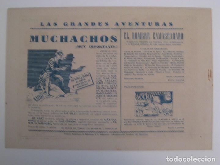 Comics: HISPANO AMERICANA - EL HOMBRE ENMASCARADO. LOTE DE 82 EJEMPLARES (GRAN FORMATO). AÑO 1941 - Foto 31 - 121658267