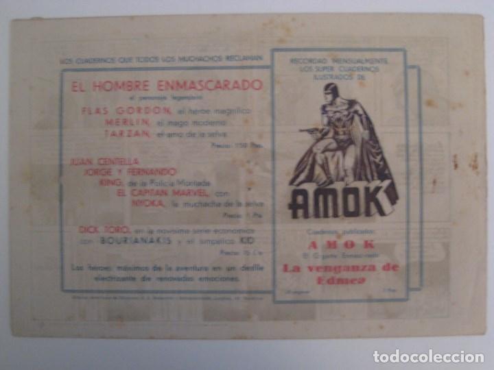 Comics: HISPANO AMERICANA - EL HOMBRE ENMASCARADO. LOTE DE 82 EJEMPLARES (GRAN FORMATO). AÑO 1941 - Foto 37 - 121658267