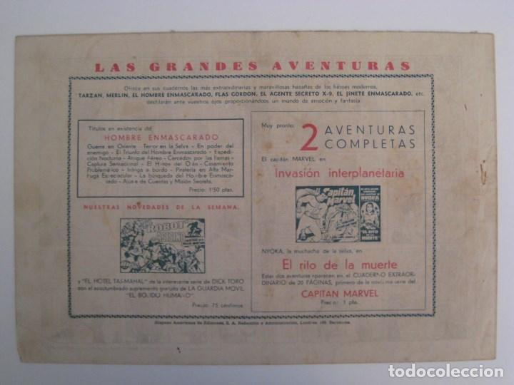 Comics: HISPANO AMERICANA - EL HOMBRE ENMASCARADO. LOTE DE 82 EJEMPLARES (GRAN FORMATO). AÑO 1941 - Foto 45 - 121658267