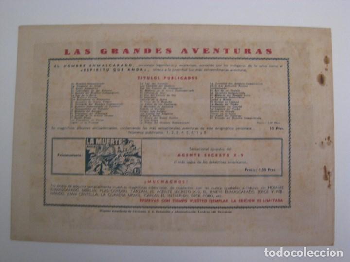 Comics: HISPANO AMERICANA - EL HOMBRE ENMASCARADO. LOTE DE 82 EJEMPLARES (GRAN FORMATO). AÑO 1941 - Foto 61 - 121658267