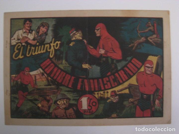 Comics: HISPANO AMERICANA - EL HOMBRE ENMASCARADO. LOTE DE 82 EJEMPLARES (GRAN FORMATO). AÑO 1941 - Foto 64 - 121658267