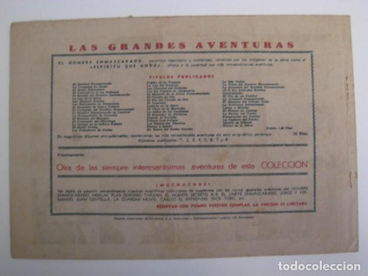 Comics: HISPANO AMERICANA - EL HOMBRE ENMASCARADO. LOTE DE 82 EJEMPLARES (GRAN FORMATO). AÑO 1941 - Foto 65 - 121658267
