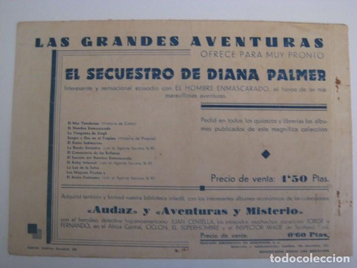 Comics: HISPANO AMERICANA - EL HOMBRE ENMASCARADO. LOTE DE 82 EJEMPLARES (GRAN FORMATO). AÑO 1941 - Foto 101 - 121658267