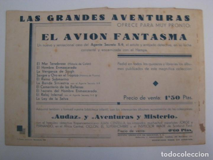 Comics: HISPANO AMERICANA - EL HOMBRE ENMASCARADO. LOTE DE 82 EJEMPLARES (GRAN FORMATO). AÑO 1941 - Foto 103 - 121658267