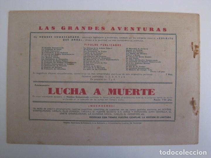 Comics: HISPANO AMERICANA - EL HOMBRE ENMASCARADO. LOTE DE 82 EJEMPLARES (GRAN FORMATO). AÑO 1941 - Foto 127 - 121658267