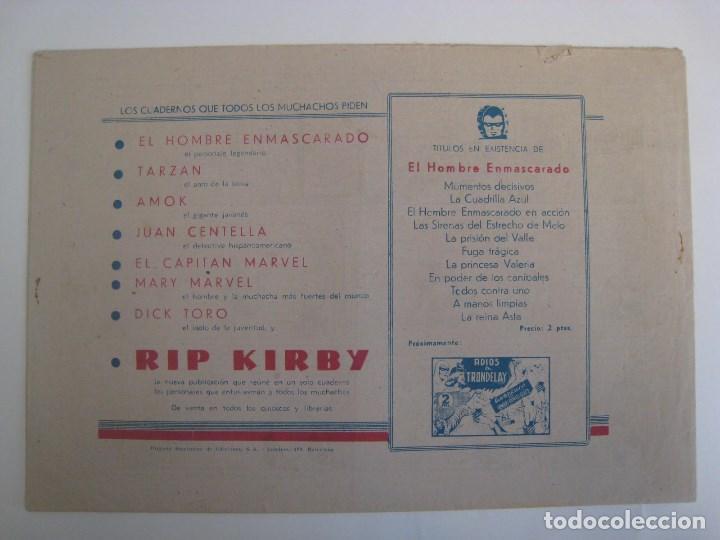 Comics: HISPANO AMERICANA - EL HOMBRE ENMASCARADO. LOTE DE 82 EJEMPLARES (GRAN FORMATO). AÑO 1941 - Foto 165 - 121658267
