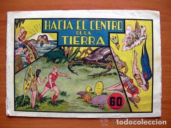 CARLOS EL INTRÉPIDO, Nº 4, HACIA EL CENTRO DE LA TIERRA - EDITORIAL HISPANO AMERICANA 1942 (Tebeos y Comics - Hispano Americana - Carlos el Intrépido)
