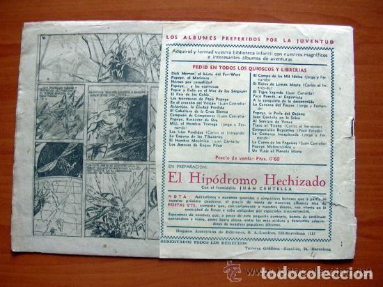 Tebeos: Carlos el intrépido, nº 4, Hacia el centro de la tierra - Editorial Hispano Americana 1942 - Foto 2 - 121725163