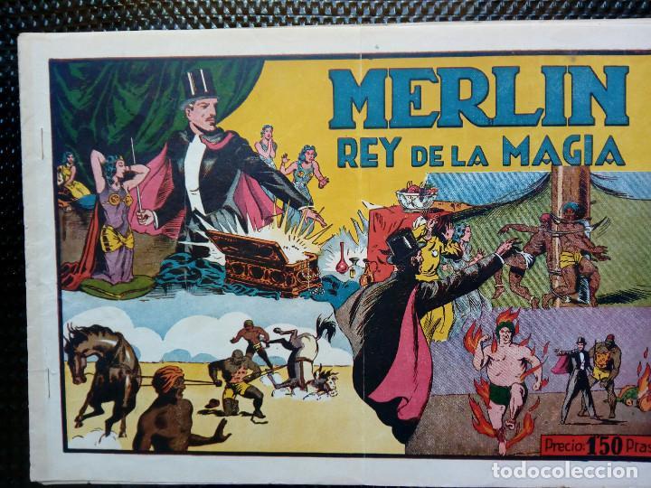 COMIC MERLIN EL REY DE LA MAGIA - HISPA.AMER. DE EDIC. 1944 ORIGINAL (M-2) (Tebeos y Comics - Hispano Americana - Merlín)