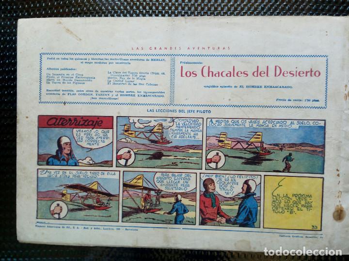 Tebeos: COMIC MERLIN EL REY DE LA MAGIA - HISPA.AMER. DE EDIC. 1944 ORIGINAL (M-2) - Foto 2 - 121749379