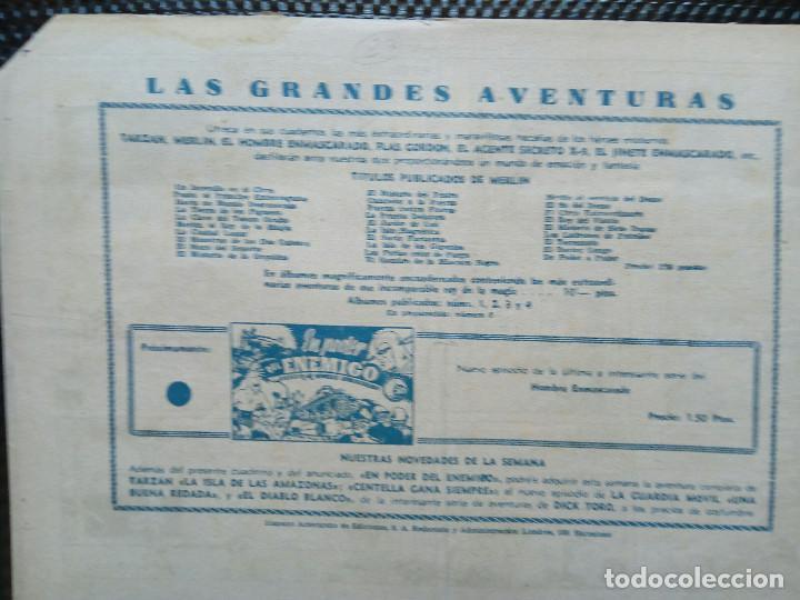 Tebeos: COMIC MERLIN EL REY DE LA MAGIA - HISPA.AMER. DE EDIC. 1944- ORIGINAL (M-2) - Foto 2 - 121753999