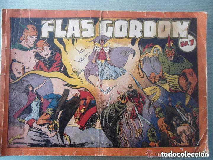 ANTIGUO COMIC TEBEO FLASH GORDON - NUM 1 - EDIT HISPANO AMERICANA - 1944 - ALBUM ROJO (Tebeos y Comics - Hispano Americana - Flash Gordon)