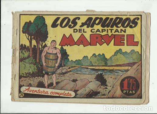 EL CAPITÁN MARVEL 26: LOS APUROS DEL CAPITÁN MARVEL, 1947, HISPANO AMERICANA, USADO (Tebeos y Comics - Hispano Americana - Capitán Marvel)