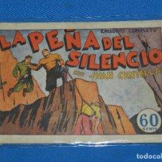 Tebeos: (M1) JUAN CENTELLA - LA PEÑA DEL SILENCIO , EPISODIO COMPLETO , LAS GRANDES OBRAS MODERNAS , SEÑALE. Lote 127619407
