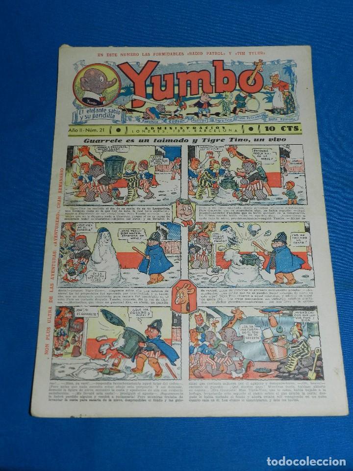 (M2) YUMBO NUM 21 , AÑO II - EDT HISPANO AMERICANA, SEÑALES DE USO (Tebeos y Comics - Hispano Americana - Yumbo)