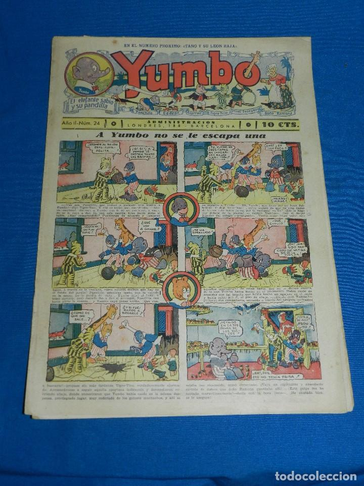 (M2) YUMBO NUM 24 , AÑO II - EDT HISPANO AMERICANA, SEÑALES DE USO (Tebeos y Comics - Hispano Americana - Yumbo)