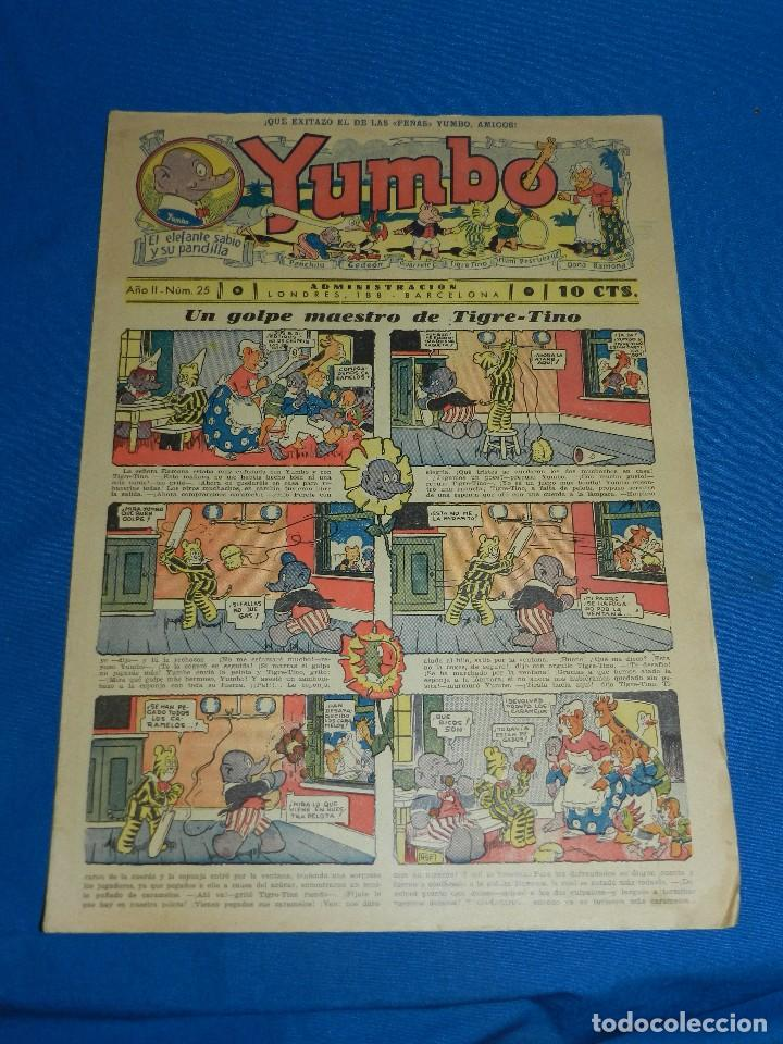 (M2) YUMBO NUM 25 , AÑO II - EDT HISPANO AMERICANA, SEÑALES DE USO (Tebeos y Comics - Hispano Americana - Yumbo)