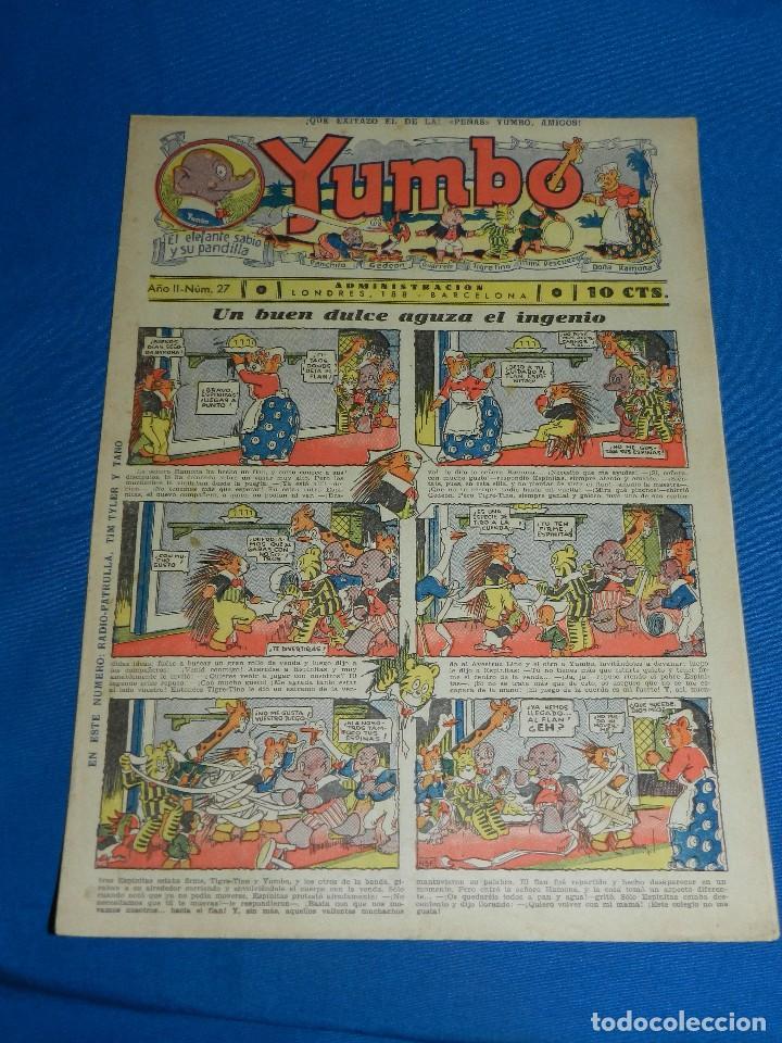 (M2) YUMBO NUM 27 , AÑO II - EDT HISPANO AMERICANA, SEÑALES DE USO (Tebeos y Comics - Hispano Americana - Yumbo)