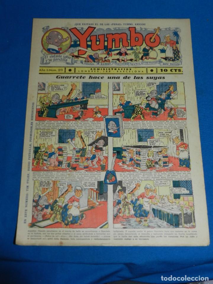 (M2) YUMBO NUM 28 , AÑO II - EDT HISPANO AMERICANA, SEÑALES DE USO (Tebeos y Comics - Hispano Americana - Yumbo)