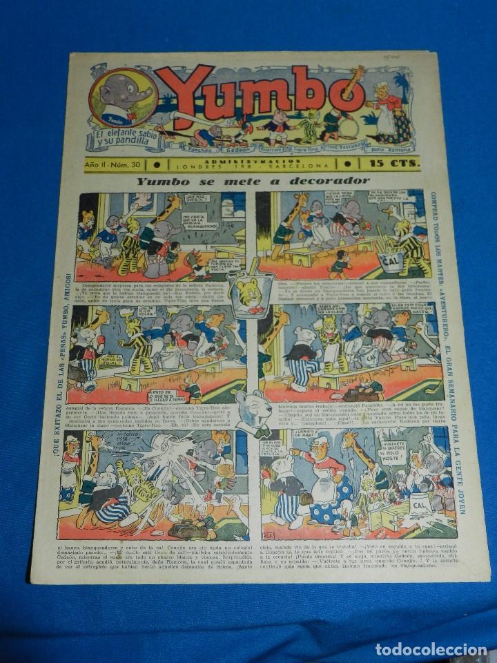 (M2) YUMBO NUM 30 , AÑO II - EDT HISPANO AMERICANA, SEÑALES DE USO (Tebeos y Comics - Hispano Americana - Yumbo)