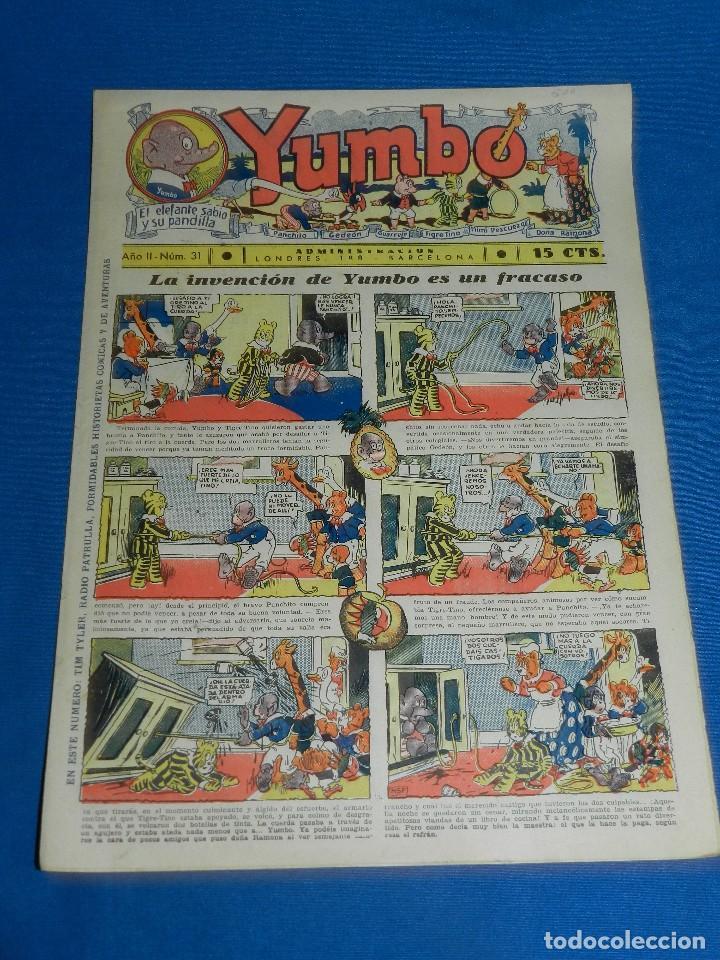 (M2) YUMBO NUM 31 , AÑO II - EDT HISPANO AMERICANA, SEÑALES DE USO (Tebeos y Comics - Hispano Americana - Yumbo)