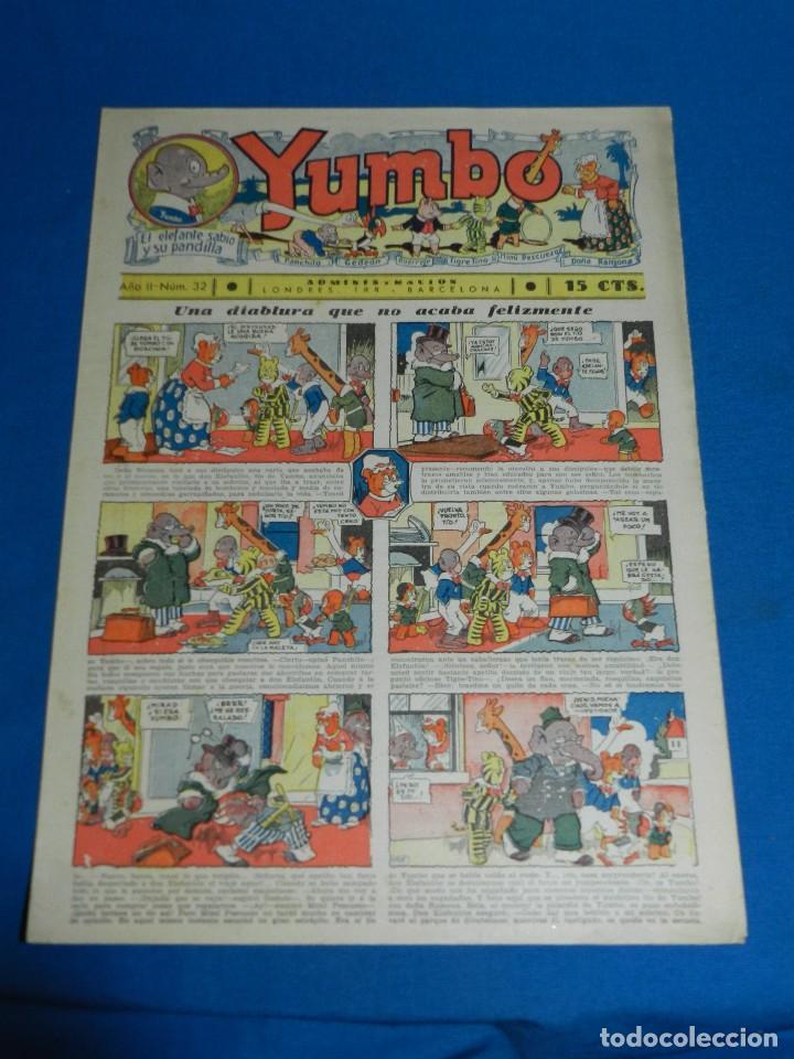 (M2) YUMBO NUM 32 , AÑO II - EDT HISPANO AMERICANA, SEÑALES DE USO (Tebeos y Comics - Hispano Americana - Yumbo)