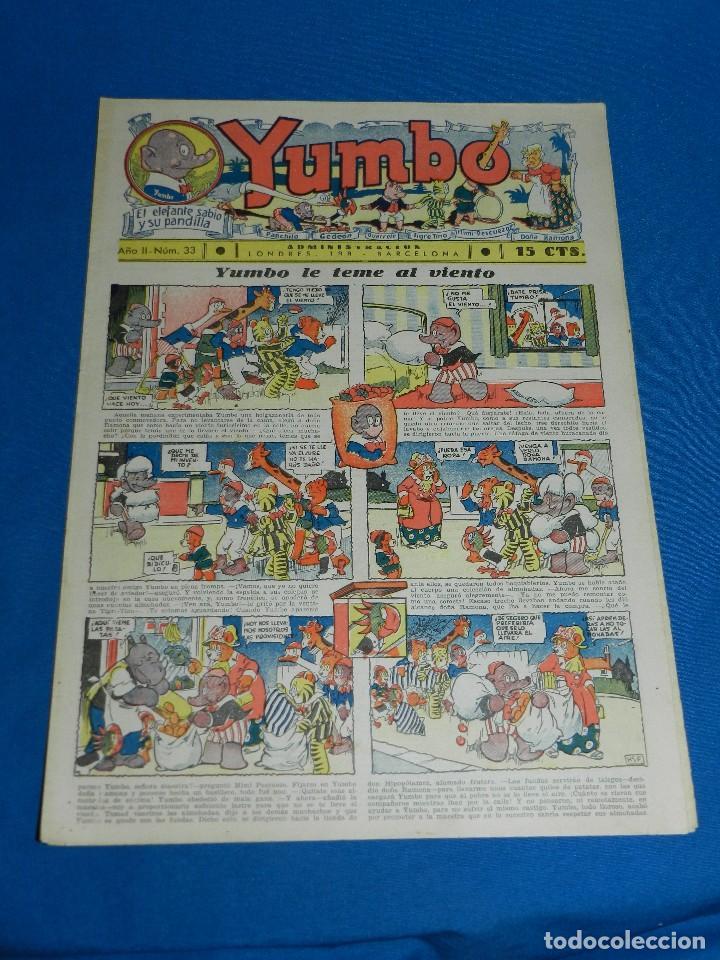 (M2) YUMBO NUM 33 , AÑO II - EDT HISPANO AMERICANA, SEÑALES DE USO (Tebeos y Comics - Hispano Americana - Yumbo)