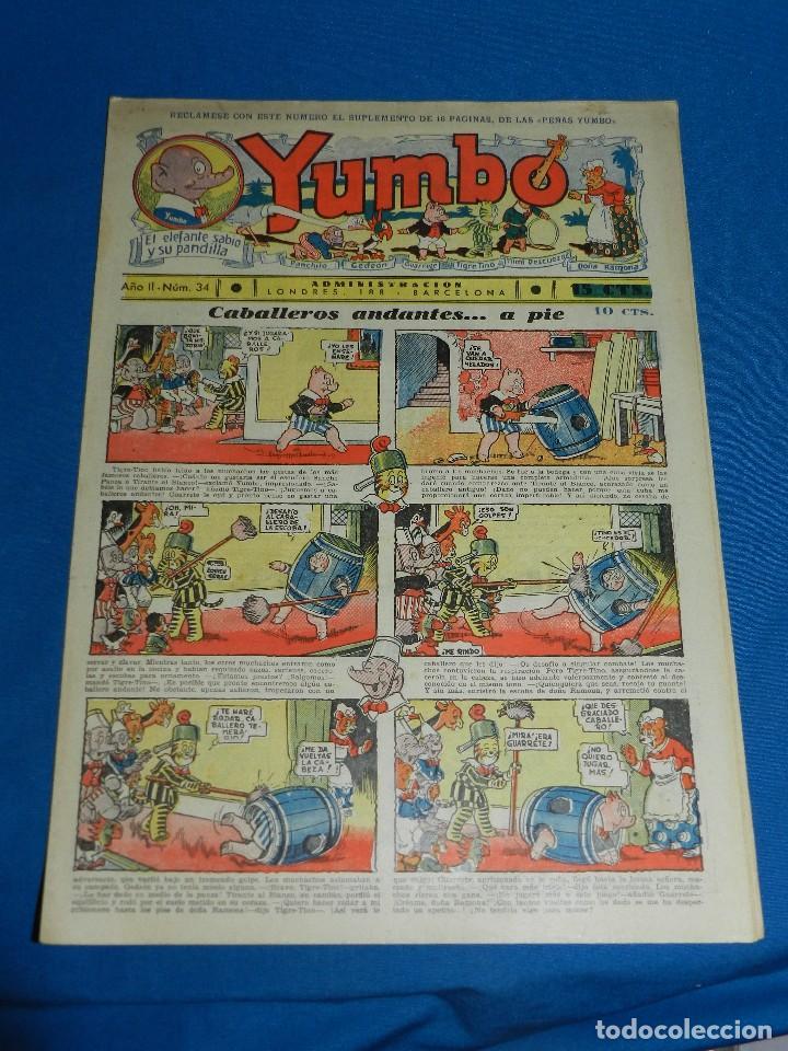 (M2) YUMBO NUM 34 , AÑO II - EDT HISPANO AMERICANA, SEÑALES DE USO (Tebeos y Comics - Hispano Americana - Yumbo)