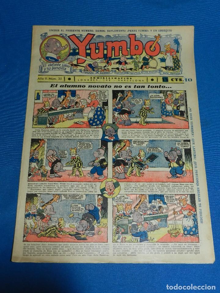 (M2) YUMBO NUM 35 , AÑO II - EDT HISPANO AMERICANA, SEÑALES DE USO (Tebeos y Comics - Hispano Americana - Yumbo)