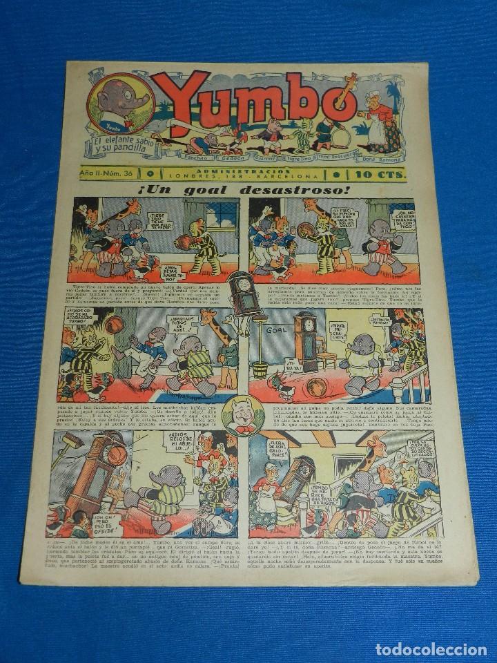 (M2) YUMBO NUM 36 , AÑO II - EDT HISPANO AMERICANA, SEÑALES DE USO (Tebeos y Comics - Hispano Americana - Yumbo)