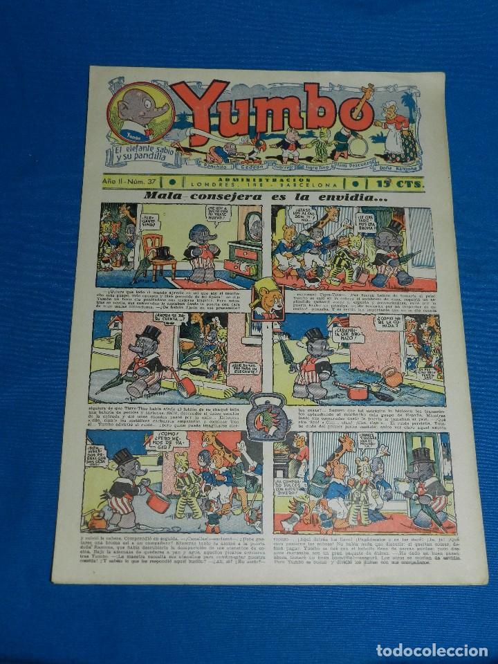 (M2) YUMBO NUM 37 , AÑO II - EDT HISPANO AMERICANA, SEÑALES DE USO (Tebeos y Comics - Hispano Americana - Yumbo)