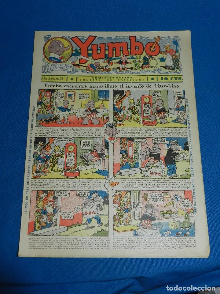 (M2) YUMBO NUM 38 , AÑO II - EDT HISPANO AMERICANA, SEÑALES DE USO (Tebeos y Comics - Hispano Americana - Yumbo)