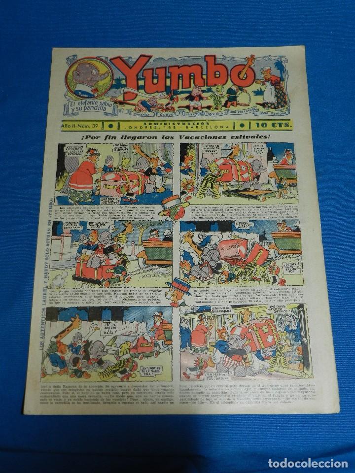 (M2) YUMBO NUM 39 , AÑO II - EDT HISPANO AMERICANA, SEÑALES DE USO (Tebeos y Comics - Hispano Americana - Yumbo)