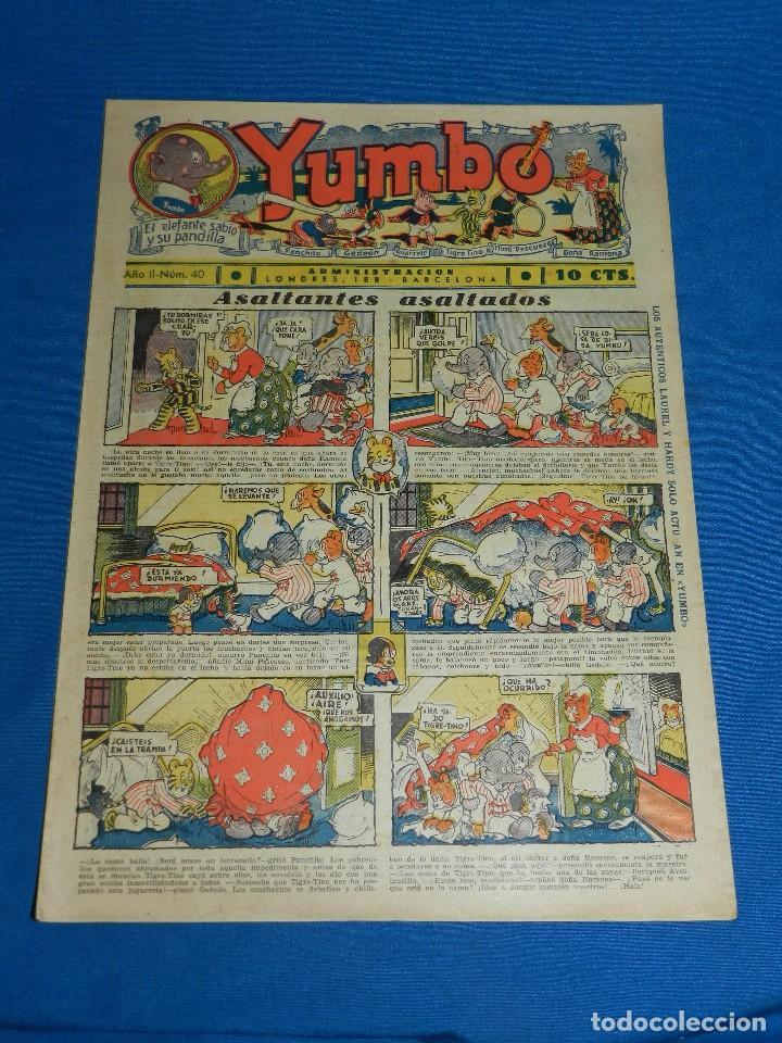 (M2) YUMBO NUM 40 , AÑO II - EDT HISPANO AMERICANA, SEÑALES DE USO (Tebeos y Comics - Hispano Americana - Yumbo)
